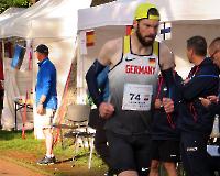 22. Europameisterschaft im 24-h-Lauf - Entschlossener Blick in den entscheidenden letzten Stunden: Marcel Leuze